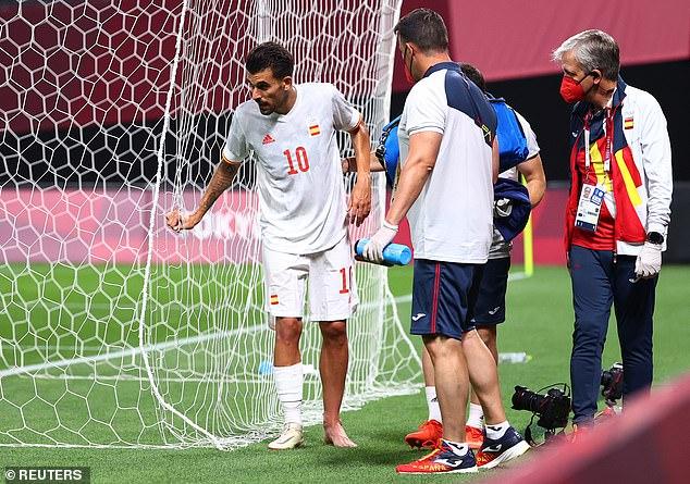 Dani Ceballos had to walk away injured against Egypt in the Spanish opener Olympics in Tokyo