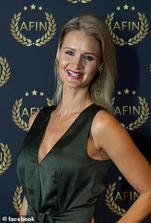 Molly's father works for a loss adjustment company in Brisbane, where the couple moved in 2017, while her mother Ally (pictured) is a model and vocal supporter of her talented young daughter