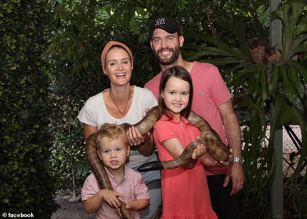 Molly Wright, who was born in the UK but now lives in Australia with her family (pictured), recently gave her a TED (Technology, Entertainment and Design) Talk about the dangers of parents spending more time on their digital devices than paying attention to their children