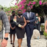 Haitian first lady seen in sling at tribute for assassinated president Jovenel Moise 💥👩💥