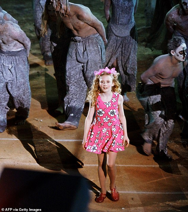 Pictured: Nikki Webster aged 13 at the Sydney Olympics Opening Ceremony