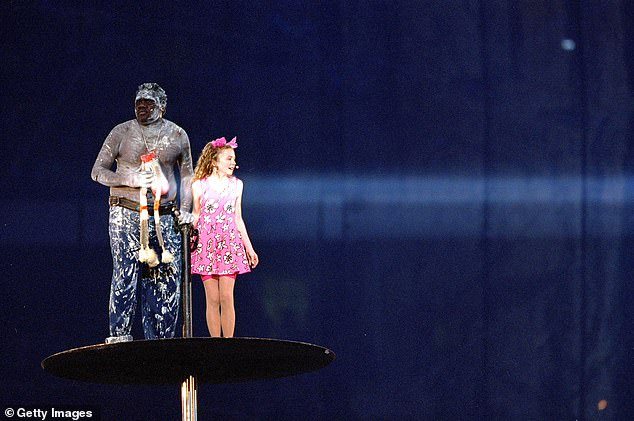 Pictured: Nikki Webster sings Under the Southern Skies at the Sydney Olympics Opening Ceremony