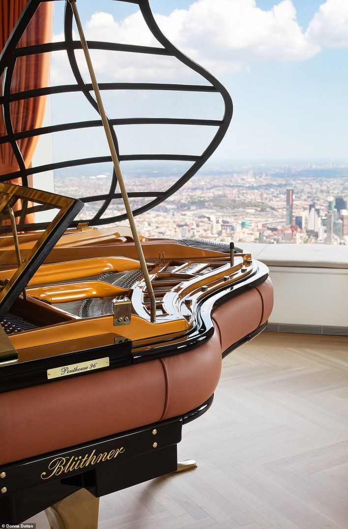 A custom-made Blüthner piano comes with the penthouse
