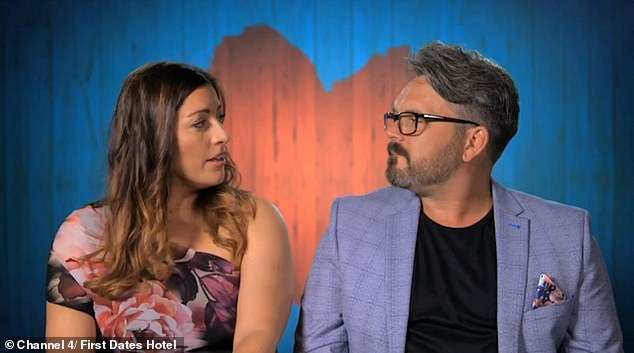 Angry: Paul has remained relatively inconspicuous in recent years, but made an emotional appearance on the dating show First Dates Hotel in 2019 (pictured with his date Anna)