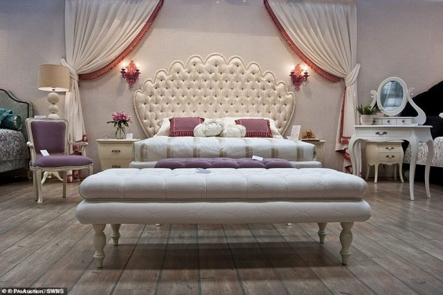 According to Bloomberg, the deal to buy the Knightsbridg property in the first place was possible because of the historic weakness of sterling as a result of Brexit. Pictured: One of the bedrooms in the stunning property