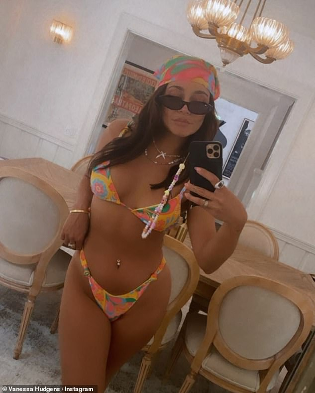 Sunday looked set to be a pool day for Vanessa as the actress previously shared a dynamite bikini selfie on her Instagram feed in a fabulous pastel floral two-piece with matching headscarf