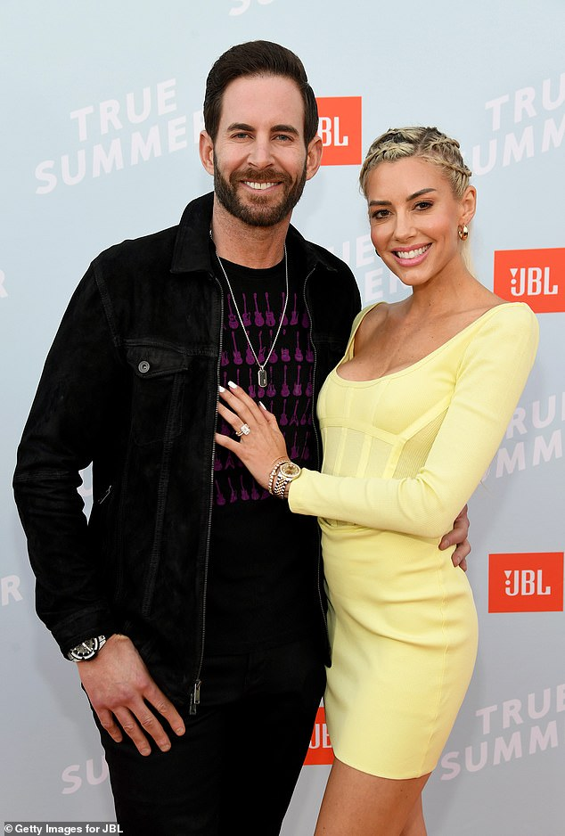 New romance: Tarek, pictured on July 8, 2021 with Selling Sunset star Heather Rae Young, is said to have told his ex his new fiancé is 'hotter' and richer than her
