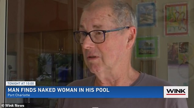 Clark said he felt 'violated' by the break-in and will no longer keep his screen door unlocked