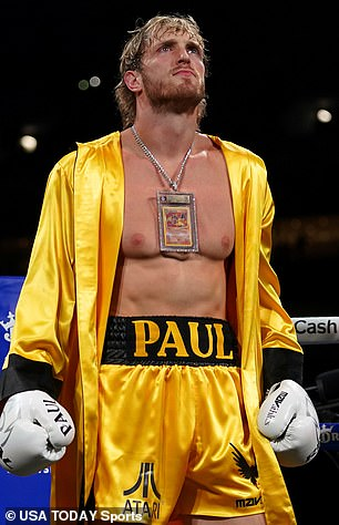 Logan Paul fought professionally once and fought in an exhibition last month