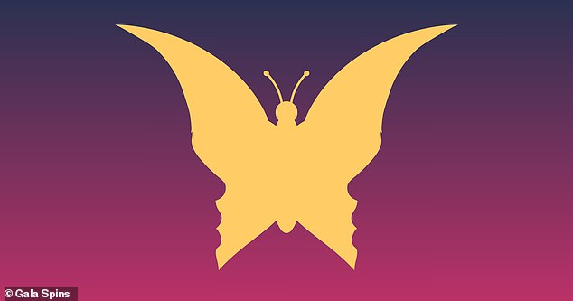 More than seven in ten see a yellow butterfly in this image, while 29% see two faces looking at each other