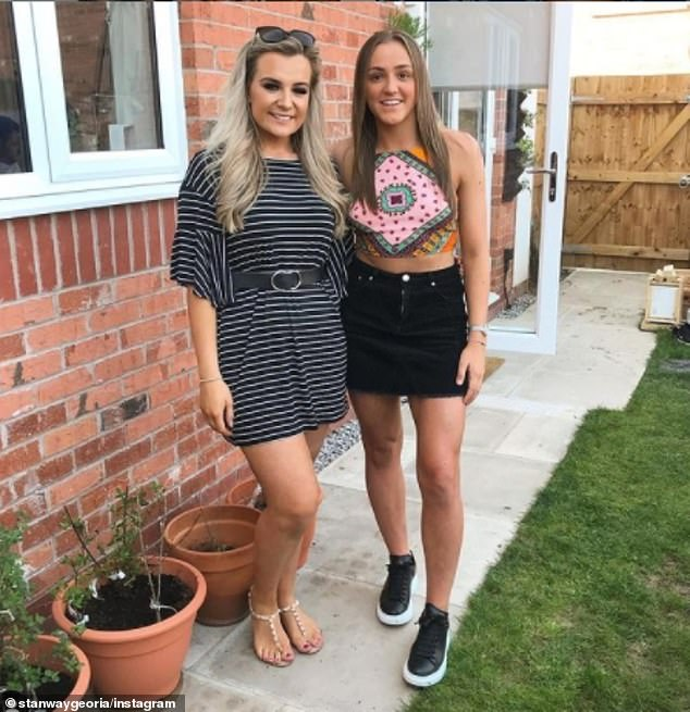 She is currently signed to Manchester City, whom she joined as an 18-year-old from Blackburn Rovers (pictured right, Georgia with a friend)