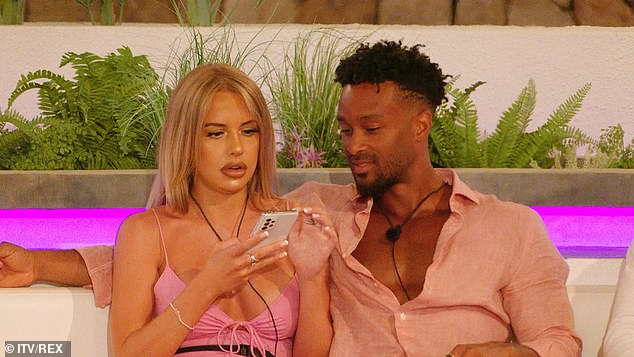 Oh no: The villa will get another shakeup as Faye Winter gets a text revealing the boys will get to choose their partners with the remaining girl getting eliminated