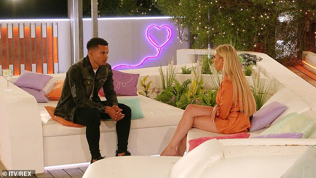Tensions: Toby and Chloe have a frank conversation and she blasts his behaviour as 'disrespectful ' after he links arms with Abi