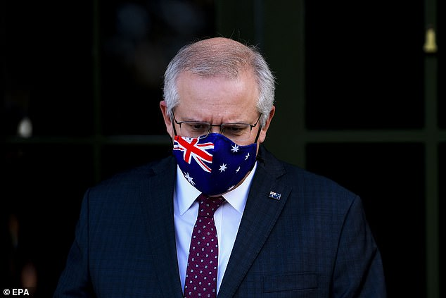 During his speech on Thursday, Scott Morrison (pictured) apologized for the program's failure to meet its goals, but insisted that some of the problems were beyond his control.