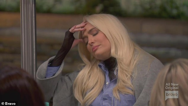 Yikes: The 50-year-old reality star detailed the incident as she explained how she witnessed Tom's declining health but was forced to keep everything a secret to protect Tom's top lawyer status and also their failing marriage