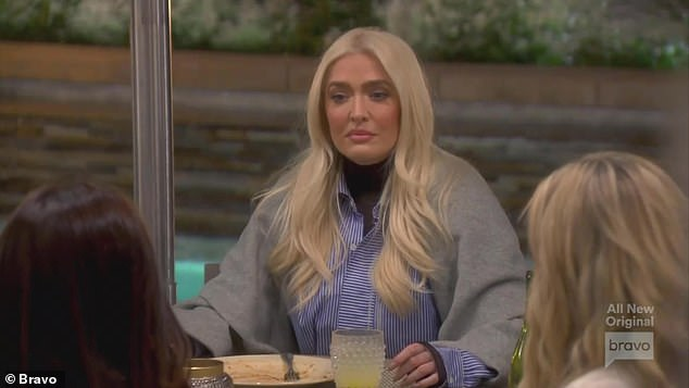 Problems: On Wednesday night's episode of Real Housewives of Beverly Hills, Erika held back her tears as she recalled struggling with Tom to get help for his physical problems but ended up in a car accident
