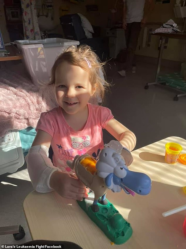 The little girl will have to undergo six months of intense chemotherapy followed by an additional 18 months of further treatment