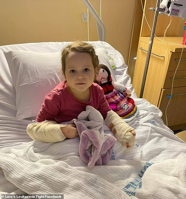 The four-year-old has been diagnosed withacute lymphoblastic leukaemia and has needed urgent surgery