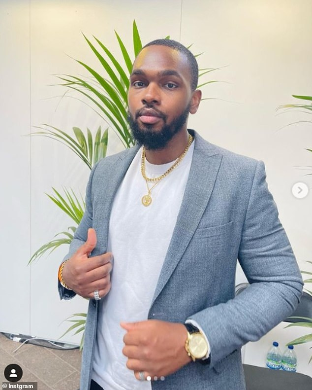 Theo (pictured) and Esther talk multiple times a day but have never FaceTimed or met in person, with Theo saying he can't meet because he's on business in Nigeria and ducking his girlfriend's calls.