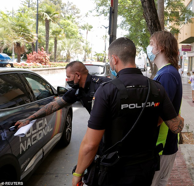 O'Connor (picture leaving court) was arrested a day earlier by Spanish police on a warrant issued by a US federal court as a result of the high-profile hack linked to a cryptocurrency scheme