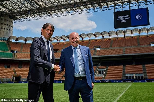 Inter Milan chief Giuseppe Marotta (right) confirmed their interest in the Spanish international