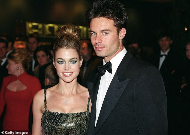 Ex-flames: Denise has said she met Patrick in an acting class when she was 19 and they dated for years.  Pictured in 1992