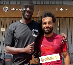 Mo Salah also posed next to the Ivorian