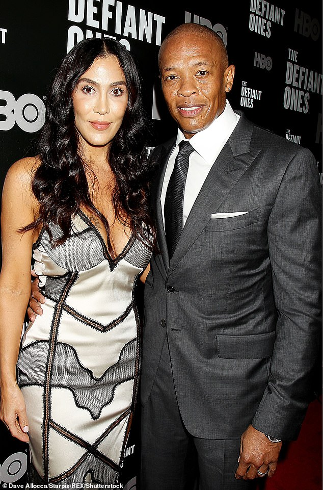 Legal: Dr.  Dre was ordered to pay $293,306 in monthly spousal support to estranged wife Nicole Young, beginning Aug. 1 amid their bitter divorce battle;  seen in 2017