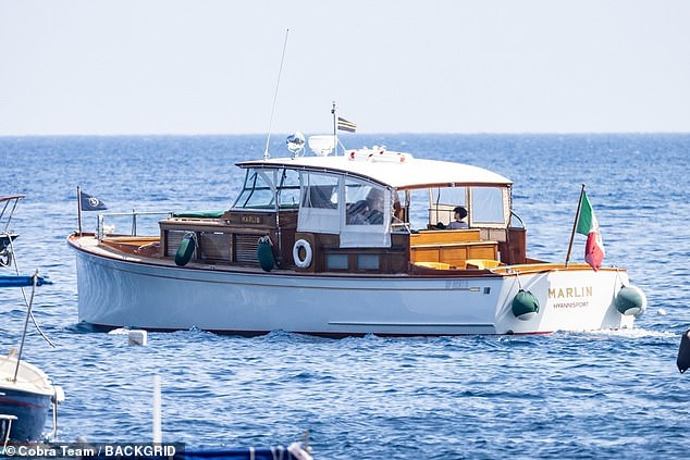 Vacation!  The 50-year-old triple-threat boarded a Marlin Hyannisport boat for a scenic cruise with five other women