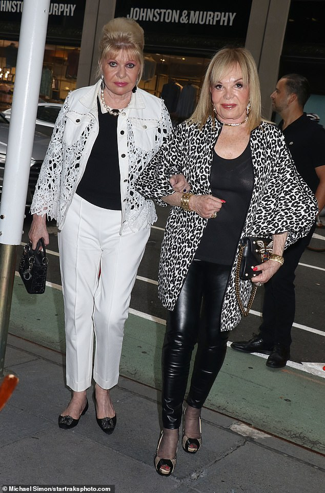 Girls' night out: The 72-year-old socialite was joined by a friend at the Midtown Manhattan restaurant