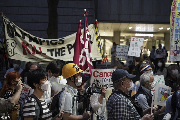 Protesters call for Tokyo Olympics to be canceled amid Japan's coronavirus crisis