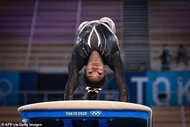 American gymnast Simone Biles adds superstar glamor to Tokyo Games