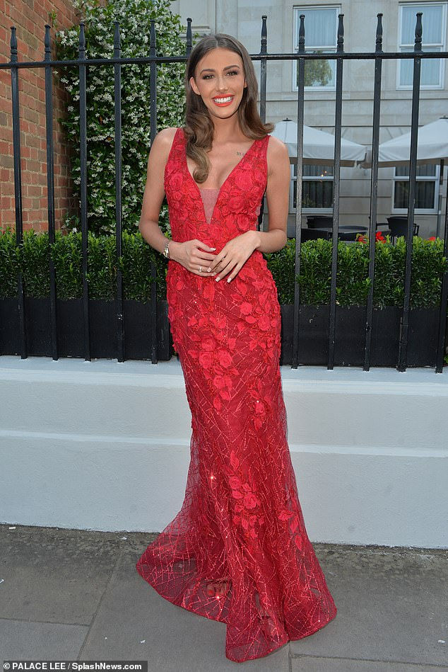Stunning: Too Hot To Handle star Chloe Veitch put on a glamorous display as she headed for a night out in Mayfair on Thursday evening