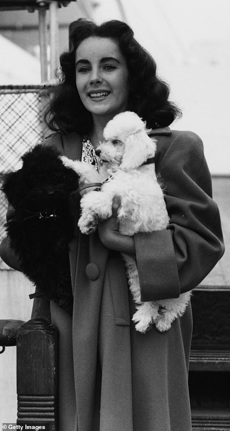 Elizabeth Taylor is seen on board the Queen Mary in 1947