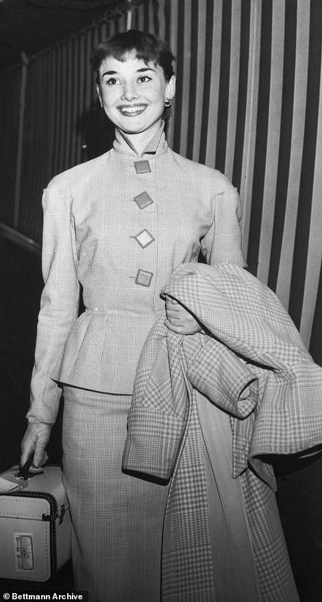 Audrey Hepburn seen on board the Queen Mary in 1951
