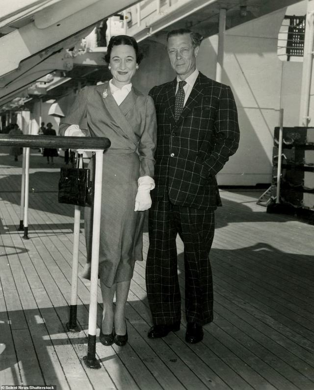 Prince Edward and Wallis Simpson aboard the Queen Mary during the 1950s as they travelled from America to their home in France.