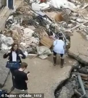 Footage shows Susanna Ohlen apparently smearing herself with mud