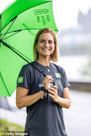 Susanna Ohlen attends the #ZeroHungerRun Cologne on July 8, 2021