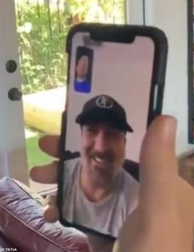 Joey Fatone also looked confused after he picked up and Lance quickly said:'Look, I cannot speak right now, I'm so busy. Can I call you back later? Actually, call me back later'