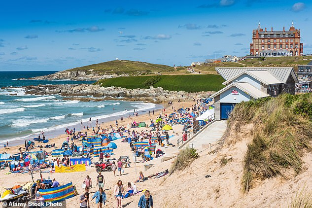 The number of cases in the province is the highest to date, with more than 2,000 cases recorded between July 10 and July 16 - an increase from the previous record of 1,997 (Photo: Fistral Beach in Newquay)