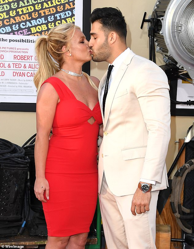 Wish for happiness: Britney has stated that she wants to move on with her life, with boyfriend Sam Asghari by her side (Pictured together in 2019)