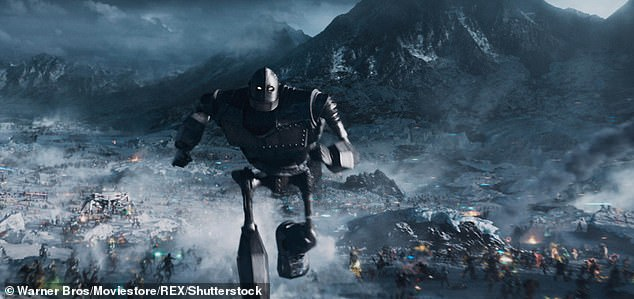 In the OASIS, users can create avatars, including popular movie characters, such as the Iron Giant (pictured)
