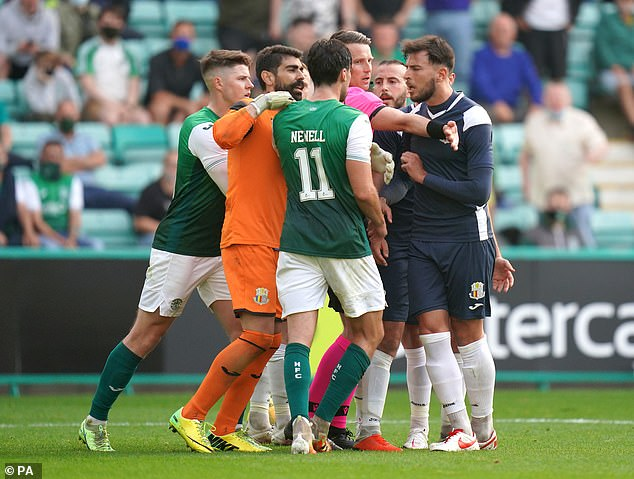 There was no shortage of drama with Joe Newell being sent home in the 31st minute