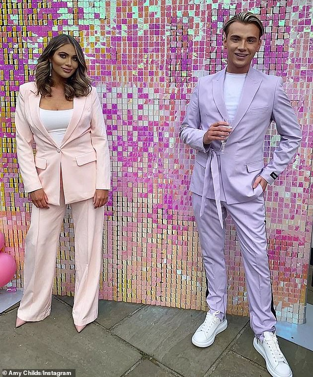 Family: Original cast member Amy Childs, (pictured) who rejoined TOWIE in 2020, will remain on the series, but her cousin HarryDerbidge has been axed from the show