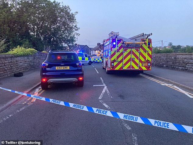 At least five ambulance vehicles, an air ambulance and a fire engine attended the scene near the Windsor pub on Llantrisant Road in Pontyclun, Wales, this evening