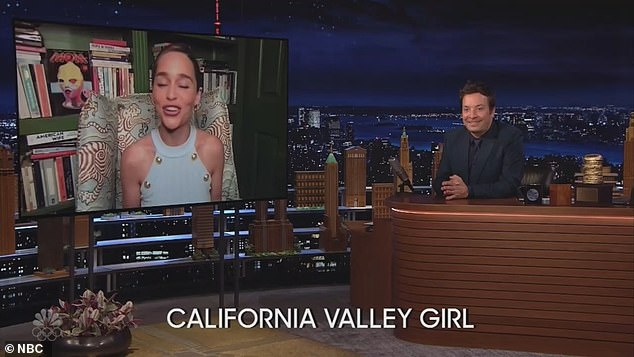 Funny: The actress, 34, was challenged to recite Olivia Rodrigo's hit Good 4 U in a variety of different accents