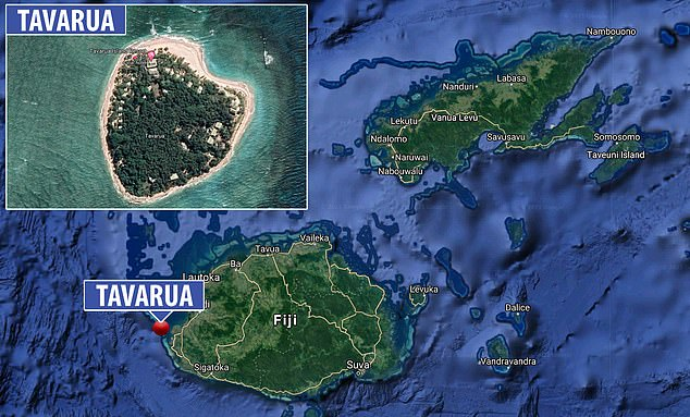 Page has spent months in Fiji during the coronavirus pandemic - mostly on the island of Tavarua