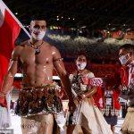 Tokyo Olympics: Pita Taufatofua goes viral as Tongan athlete goes shirtless at opening ceremony 💥👩💥