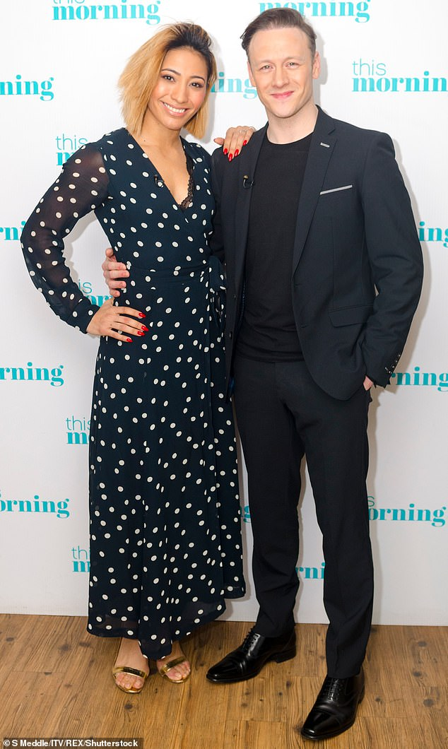 Former love:Karen was previously married to her co-star Kevin Clifton for three years between 2015 and 2018 (Picture in March 2018)