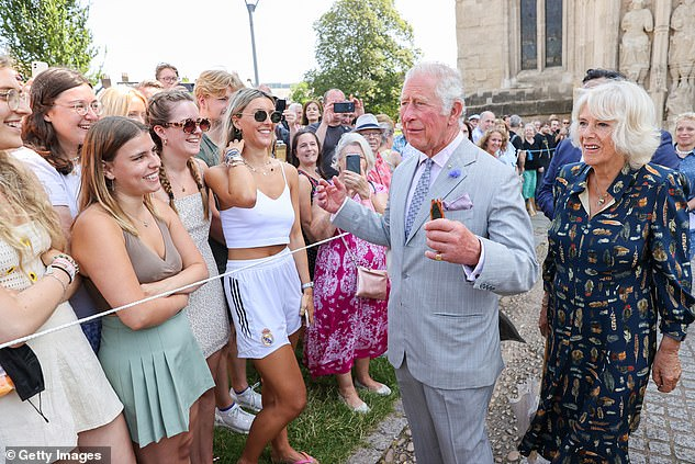 Prince Charles (pictured at Exeter Cathedral on July 19), who has a rocky relationship with his son, is said to have been particularly surprised